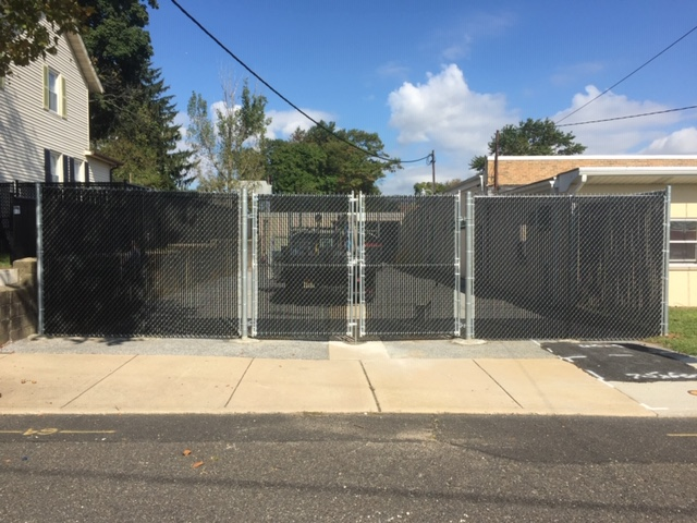 8' high chain link fence with privacy slats